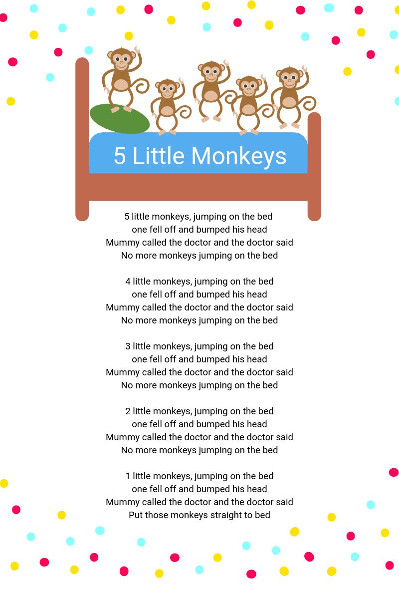 5 Little Monkey's pic