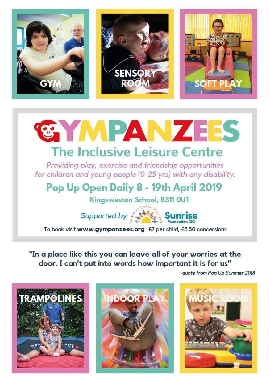 Gympanzee easter pop up