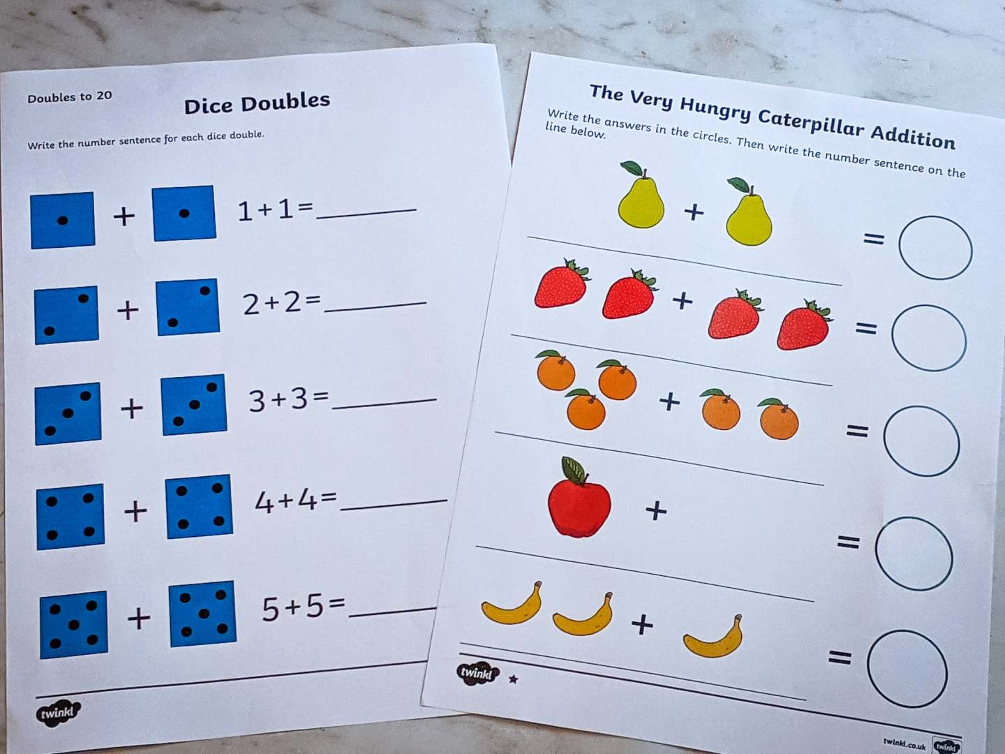 maths worksheets from twinkl