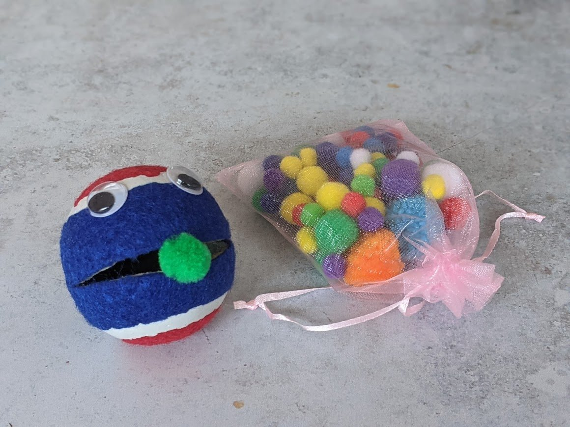 sensory submarine hungry tennis ball