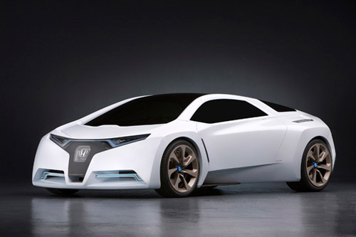 Hydrogen car concept, streamlined and cool looking, but energy hog nonetheless