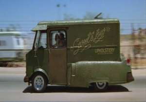 The Sweet&Low Upolstry van. Be careful, if it goes up in smoke, even the cops will have a good time. Credit: http://bit.ly/1GLmvhU