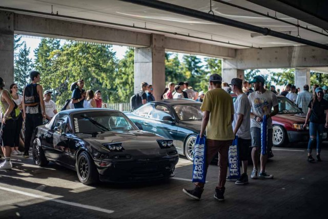 Cars at the 2018 Seattle StanceWars.