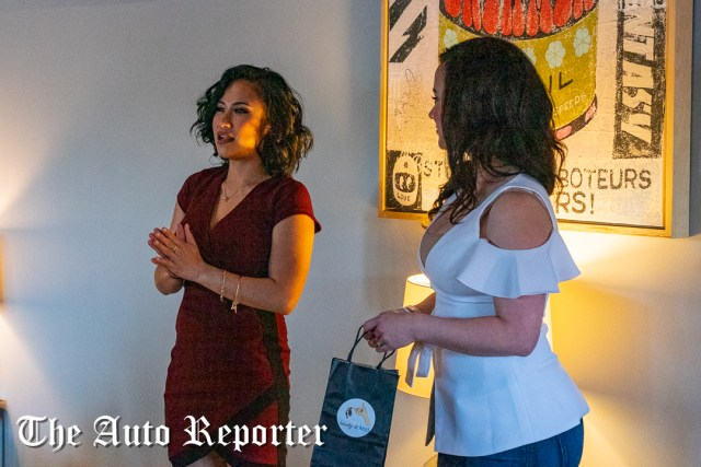 Jamei June and BMW Seattle speak to the crowd during the Beauty & Key's launch at The Shop - The Auto Reporter