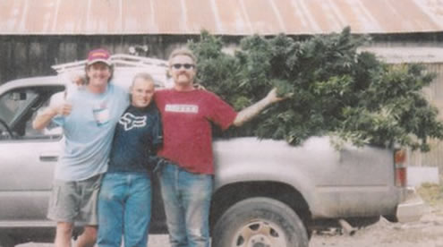 Kenny Rogers, unidentified friend, Michael Peacock and truckload of pot