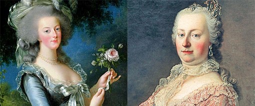 Marie Antoinette & Her mother Maria Theresa