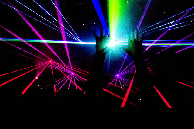 An EDM party at the Avalon in Hollywood. Photo by b@fly via Flickr.