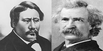 King Kamehameah-V, Mark Twain