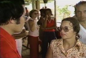 Edith Bogue talking to Jones.