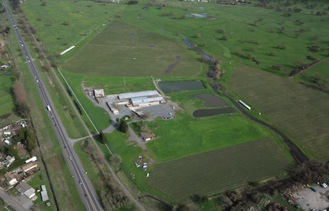 Aerial view of current Dairyman operation, and surroundings (photo by B!M).
