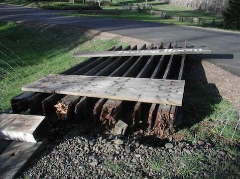 Greenwood Ridge Winery sign storm damage