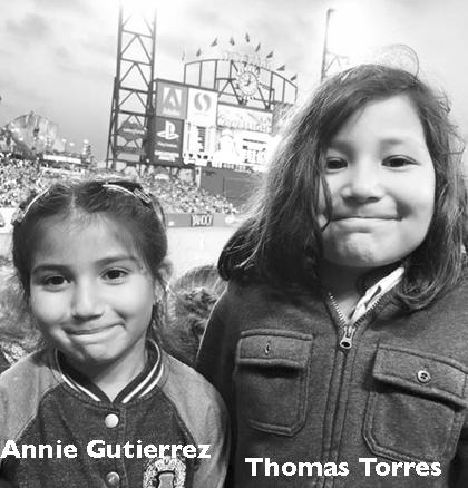Annie Gutierrez (T-ball), Thomas Torres (Machine Pitch)