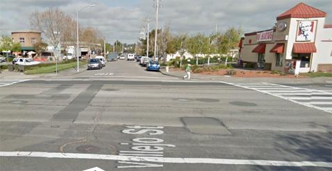 Vallejo Street in Petaluma near the Ranch/Park