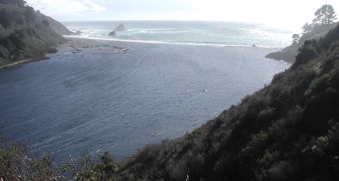 Mouth of the Navarro a few hours after high tide, 29 October 2016