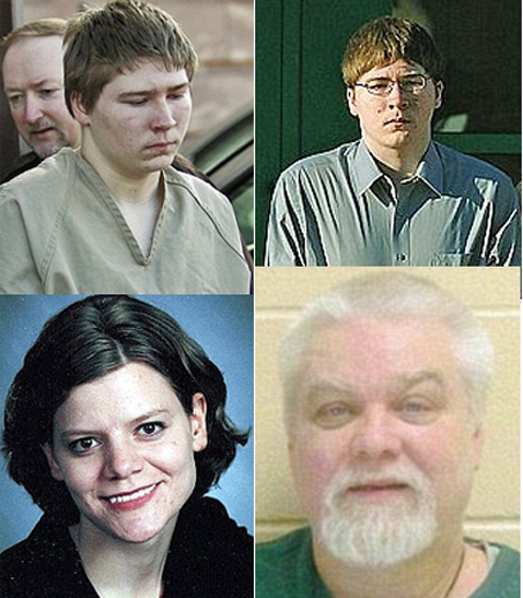 Dassey (top L&R), Halbach, Avery