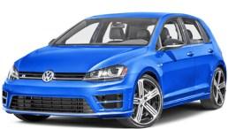 Stock blue 4-dr VW Golf sedan