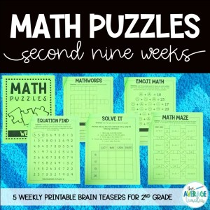 Math Puzzles and Brain Teasers for 2nd Grade
