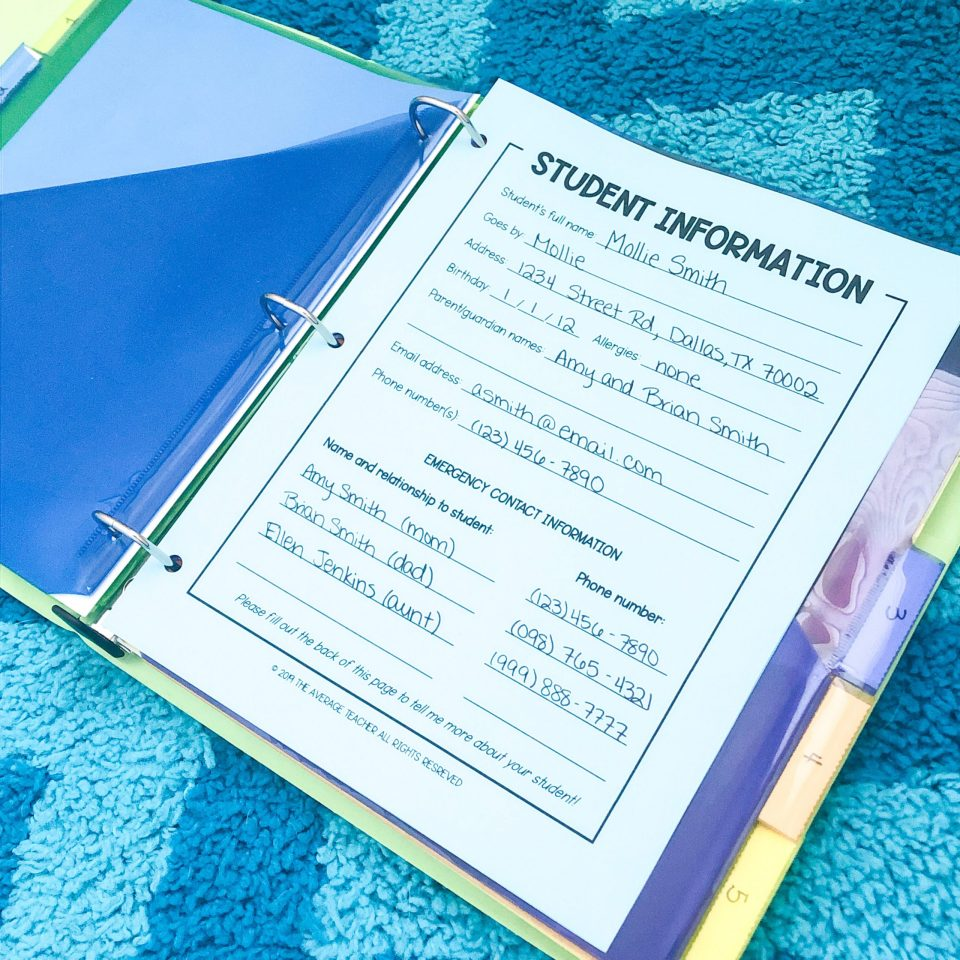 Back to school tips - organize your important papers