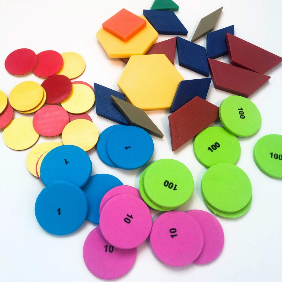 How to organize math manipulatives - step 1: sort!
