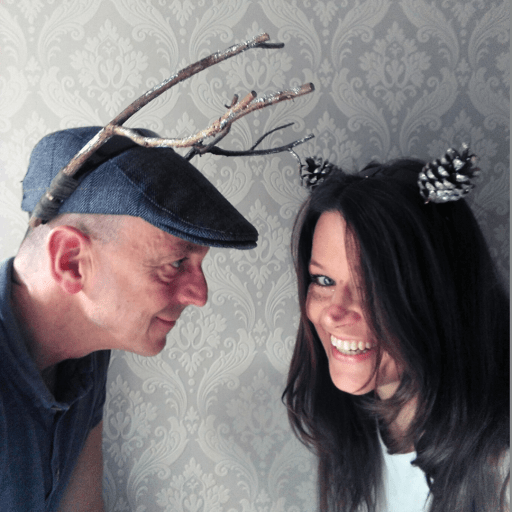 Antlers woodland animal headband made with twigs and deer headband made with cones easy nature craft idea