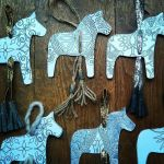 Nordic horses christmas craft decoration free printable