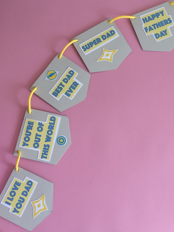 making homemade fathers day bunting is a sweet way for kids to appreciate dad on his special day!