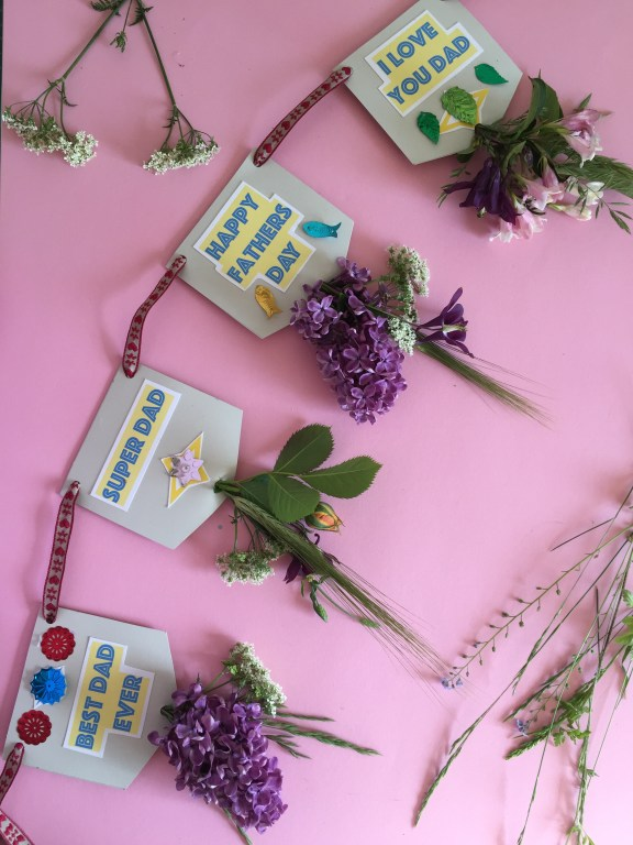 And Voila! - your homemade fathers day nature bunting is ready to hang! a sweet and easy kids craft
