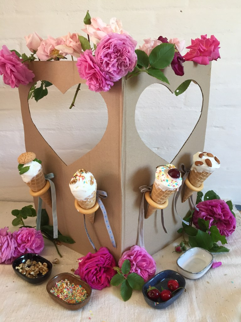 a great handmade summer party craft - make a cardboard box ice cream party stall! easy & simple diy that sparks joy