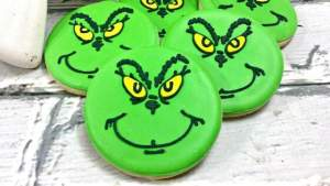 Grinch Christmas Sugar Cookies