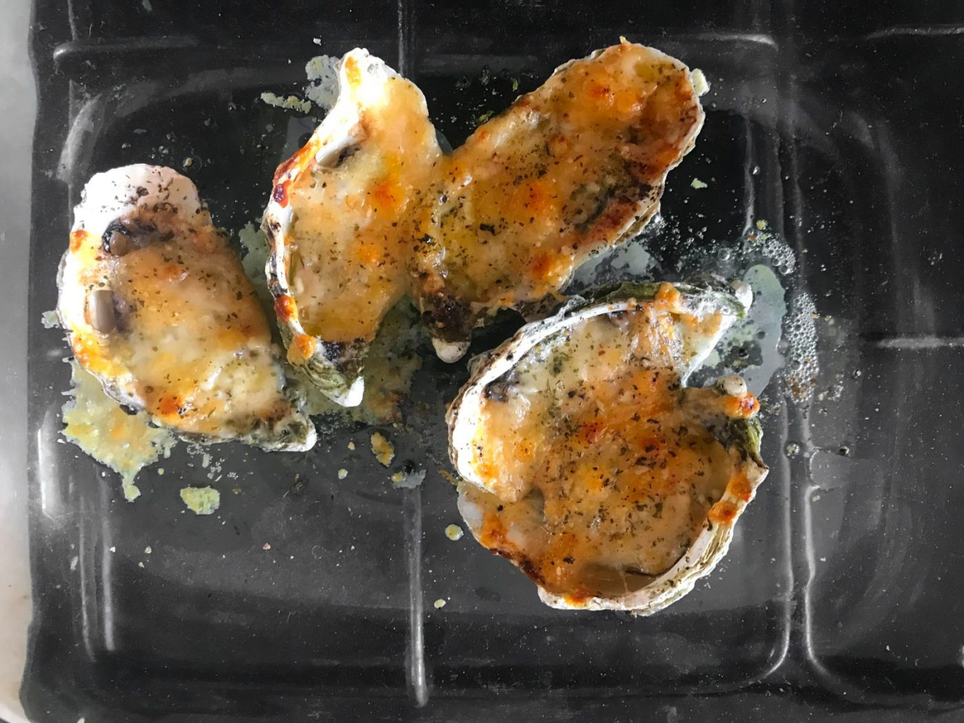 Cheesy Grilled Oysters