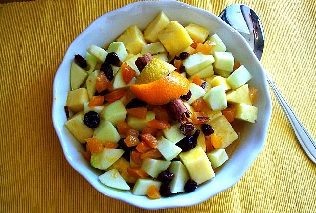 Apple fruit in fruit salad