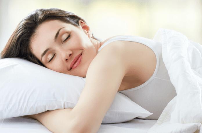 Sleeping with smile