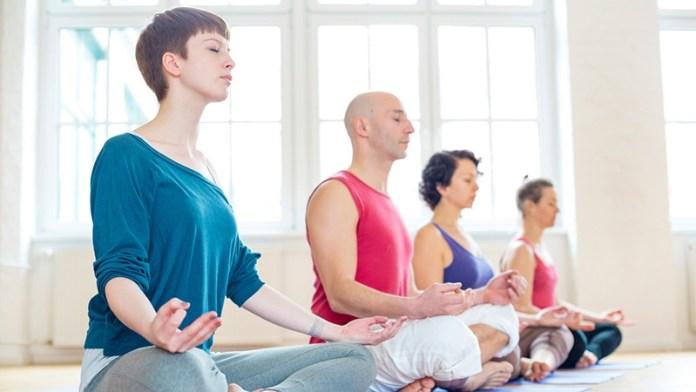 people doing meditation