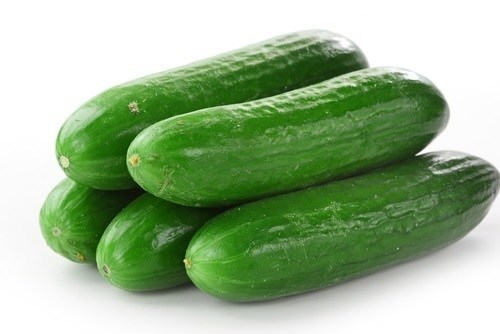 cucumber for salad preparation