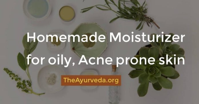 homemade moisturizer for acne oily skin