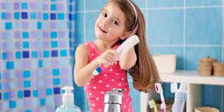 healthy hair of kids