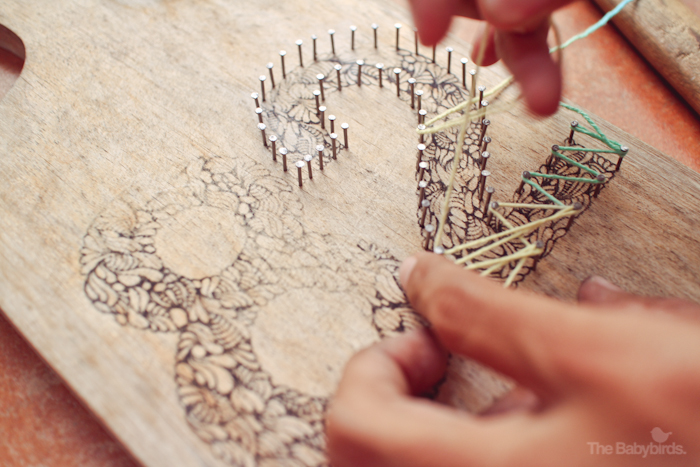 Yarn String Art – The Babybirds