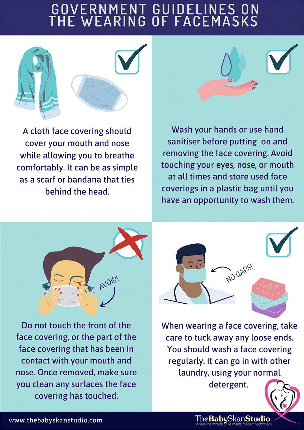 UK Government Guidelines for wearing a face mask