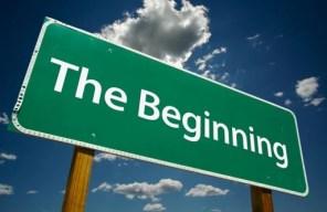 the beginning sign