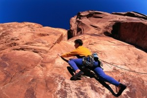 Rock climbing requires self mastery