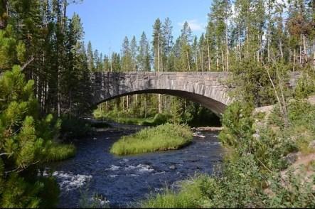 bridge river creek green