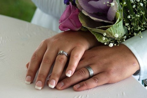 wedding hands rings