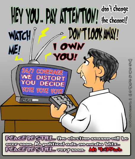 Image result for cartoons about media coverage of election