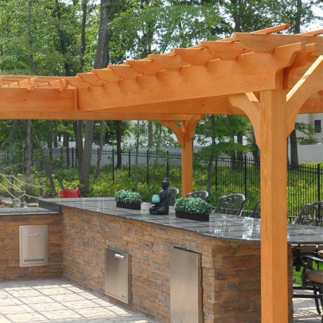 how to build a pergola on a deck 6