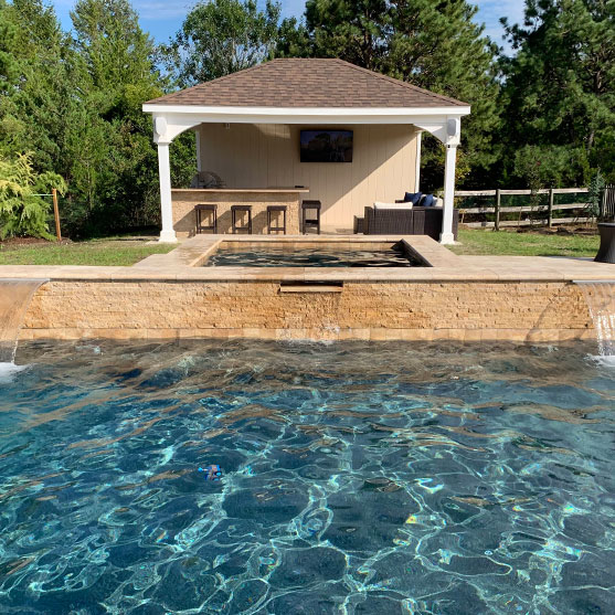 backyard cabana ideas pool house