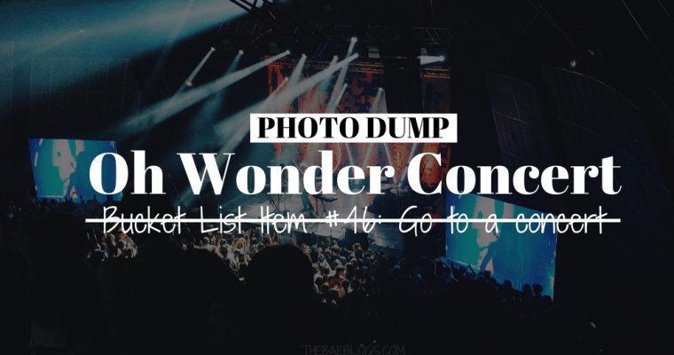 Photo Dump: Oh Wonder Solo Concert in Manila