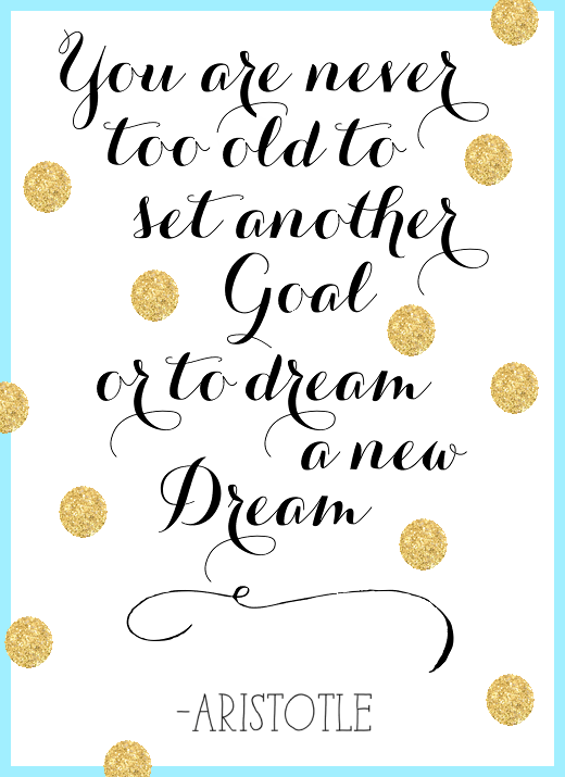 new year. new goals. new dream.