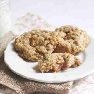 Salted Caramel Stuffed Oatmeal Cookies