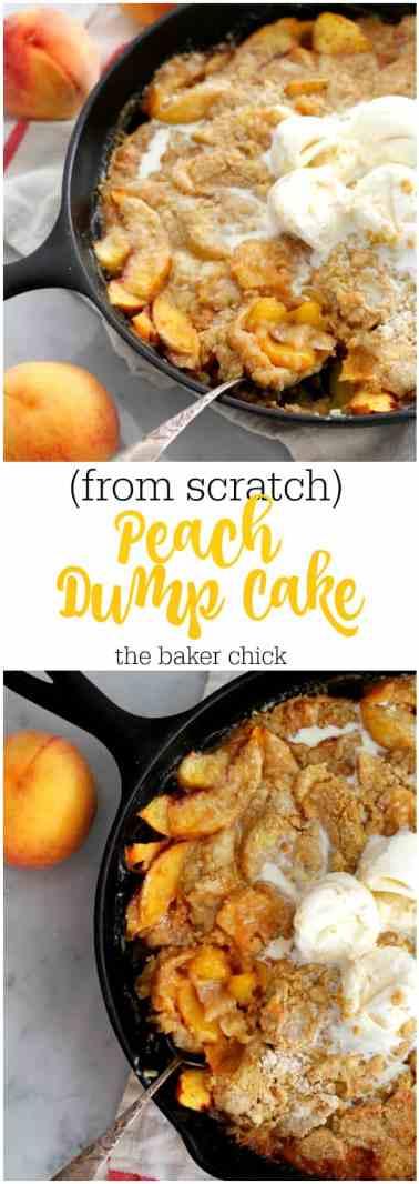 Peach Dump Cake (From Scratch)