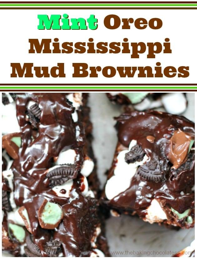 Oreo Mint Mississippi Mud Brownies